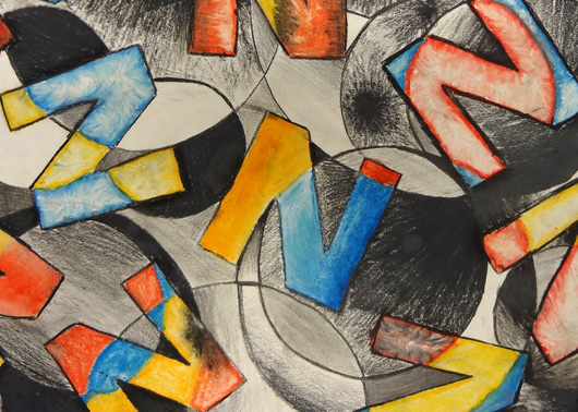 An oil pastel project that allows students to explore color theory and practice creating value.