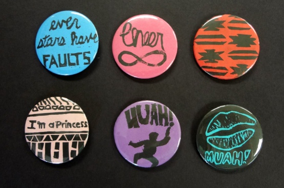Turning prints into buttons is a great fundraiser and a fun way to teach Contrast.
