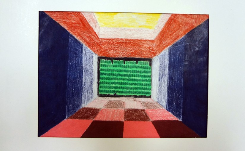 Abstract or Realistic? A student-led approach to teaching the element of Space. Students chose between creating a drawing using perspective or a notan using positive and negative space.