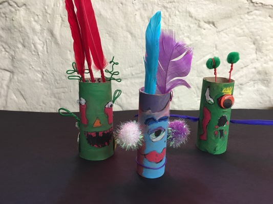Introduce students to sculpture with tube monsters!