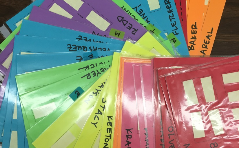 Use color coordination to organize complicated elementary art class schedules.