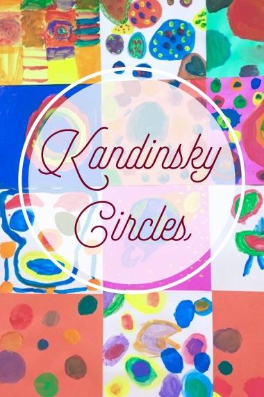 Elementary students paint artwork inspired by Kandinsky.