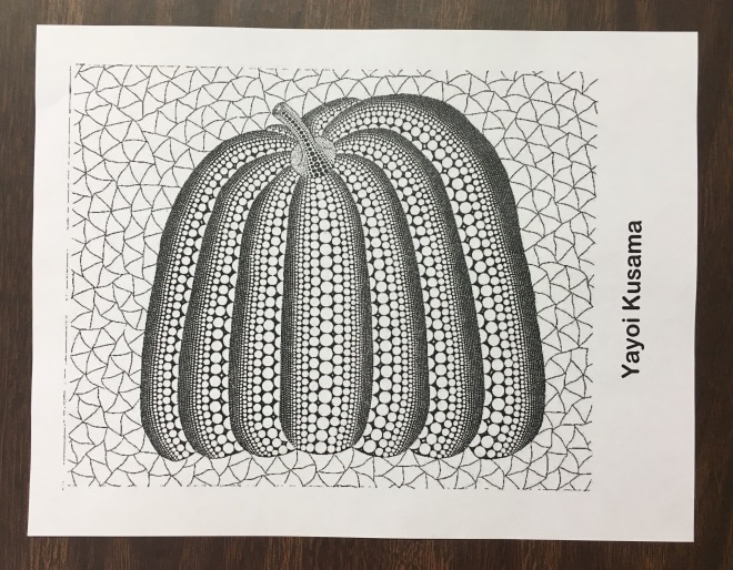 Students learn art history through a coloring center that uses artwork from an artist their table is named after.
