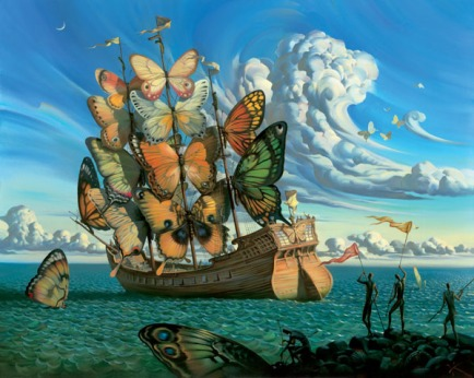 Vladimir Kush, Departure of the Winged Ship