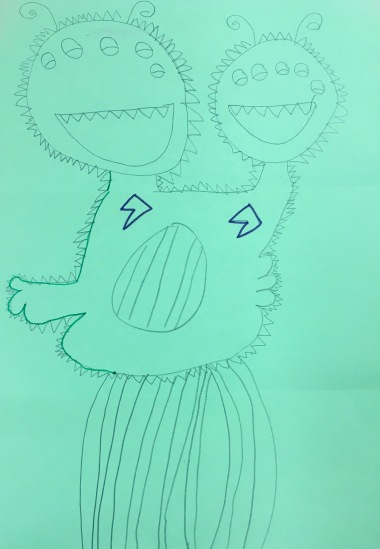 Play a drawing game to create a crazy monster!
