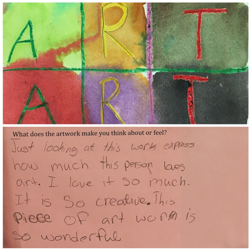Writing Responses to Showcase Artwork