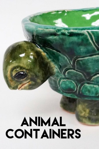 Create a cup or bowl using coil-building, then attach animal features. Functional and unique!