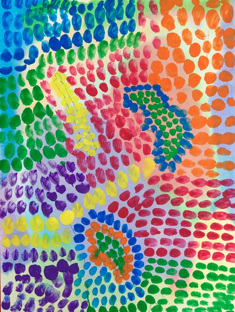 Create brushstroke paintings inspired by Alma Woodsey Thomas.